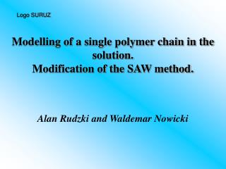 Modelling of a single polymer chain in the solution. Modification of the SAW method.