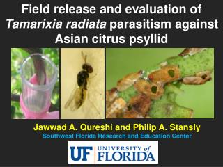 Jawwad A. Qureshi and Philip A. Stansly Southwest Florida Research and Education Center
