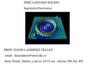 FISICA ESTADO SOLIDO. Ingenieria Electronica