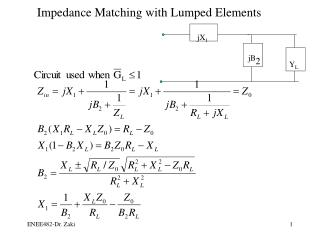 Impedance Matching with Lumped Elements