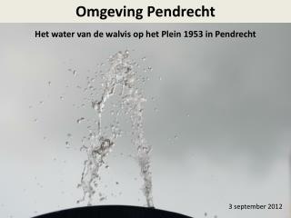 Het water van de walvis op het Plein 1953 in Pendrecht