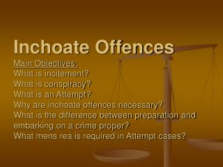 Inchoate  Offences