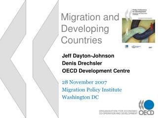 Migration and Developing Countries