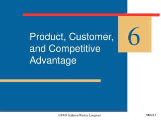 Product, Customer, and Competitive Advantage