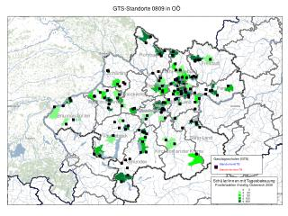GTS-Standorte 0809 in OÖ