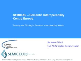 SEMIC.EU – Semantic Interoperability Centre Europe