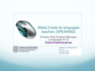 Web2.0 tools for languages teachers (SPEAKING)