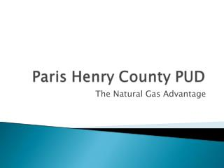 The Natural Gas Advantage