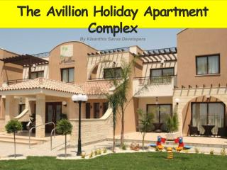 The Avillion Holiday Apartment Complex By Kleanthis Savva Developers