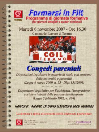 Filt Cgil Teramo Viale Crispi, 173/181 - TERAMO Tel. 0861 210944