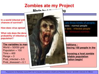 Zombies ate my Project Made by Lifan Zhang