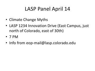 LASP Panel April 14