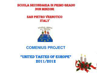 Scuola Secondaria di Primo grado DON MINZONI san pietro vernotico  ITALY