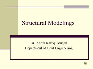 Structural Modelings