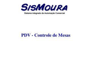 PDV - Controle de Mesas
