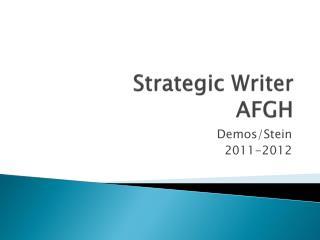 Strategic Writer AFGH