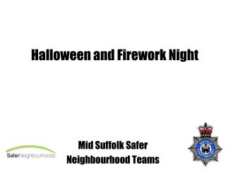 Halloween and Firework Night