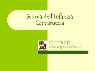 Scuola dell�Infanzia  Capparuccia