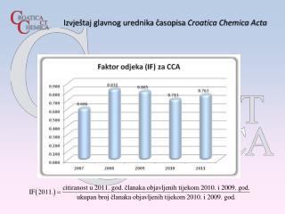 Izvje štaj glavnog urednika časopisa  Croatica Chemica Acta