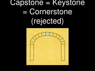 Capstone = Keystone = Cornerstone (rejected)