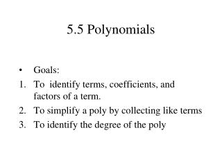 5.5 Polynomials