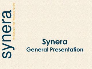 Synera General  Presentation