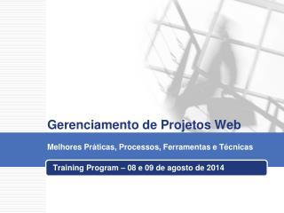 Gerenciamento de Projetos Web