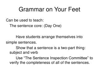 Grammar on Your Feet