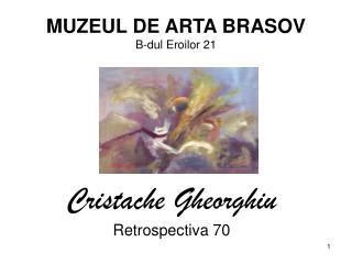 MUZEUL DE ARTA BRASOV B-dul Eroilor 21