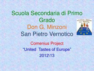 Scuola Secondaria di Primo Grado Don G.  Minzoni San Pietro  Vernotico