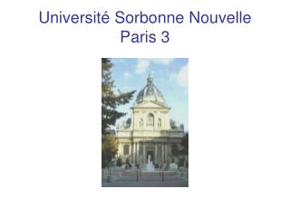 Universit  Sorbonne Nouvelle Paris 3