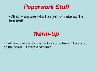 Paperwork Stuff