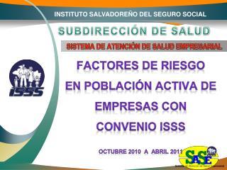 INSTITUTO SALVADOREÑO DEL SEGURO SOCIAL