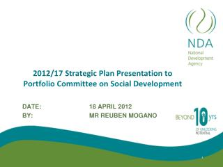2012/17 Strategic Plan Presentation to Portfolio Committee on Social Development