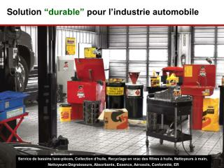 """Solution  """"durable""""  pour l'industrie automobile"""