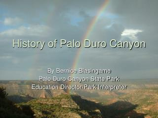 History of Palo Duro Canyon