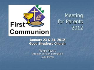 Meeting  for Parents 2012