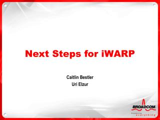 Next Steps for iWARP