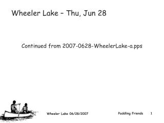 Wheeler Lake – Thu, Jun 28  Continued from 2007-0628-WheelerLake-a