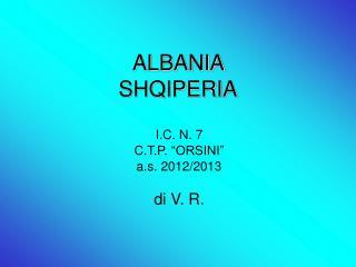 ALBANIA  SHQIPERIA