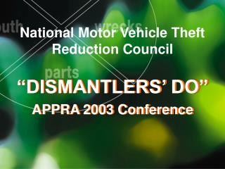 National Motor Vehicle Theft Reduction Council