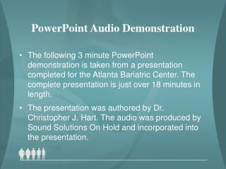 PowerPoint Audio Demonstration