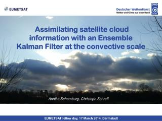 Assimilating satellite cloud information with an Ensemble Kalman Filter at the convective scale
