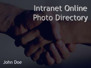 Intranet Online Photo Directory