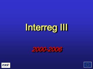 Interreg III 2000-2006