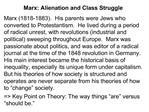 Marx: Alienation and Class Struggle
