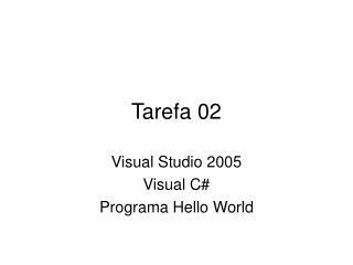 Tarefa 02