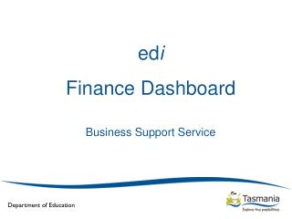 ed i Finance Dashboard Business Support Service