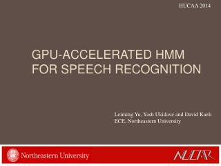 gPU -ACCELERATED hmm  FOR Speech Recognition