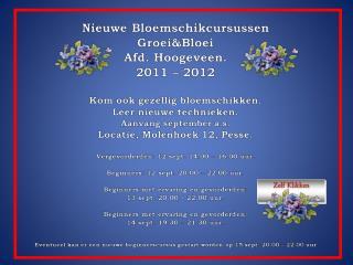Beginnerscursus Maandag 20.00 – 22.00 uur. Docent: Hennie Sieders.